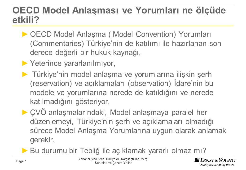 OECD Model Anlaşması ve Yorumları ne ölçüde etkili