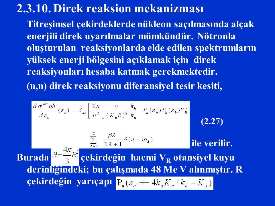 2.3.10. Direk reaksion mekanizması