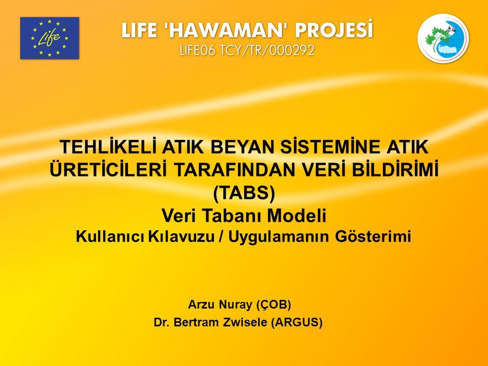 Arzu Nuray (ÇOB) Dr. Bertram Zwisele (ARGUS)