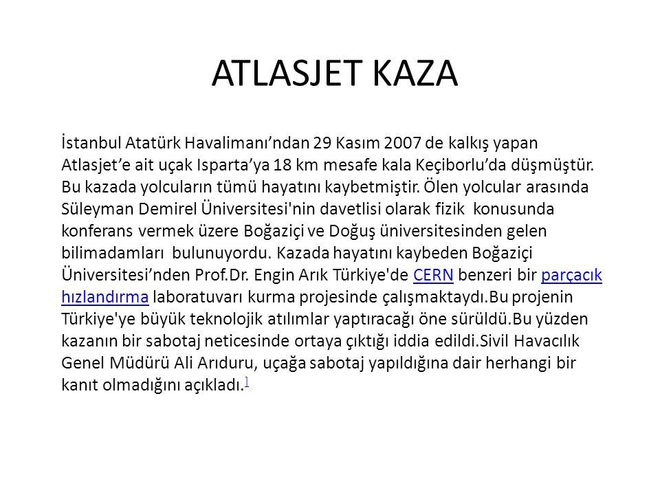 ATLASJET KAZA