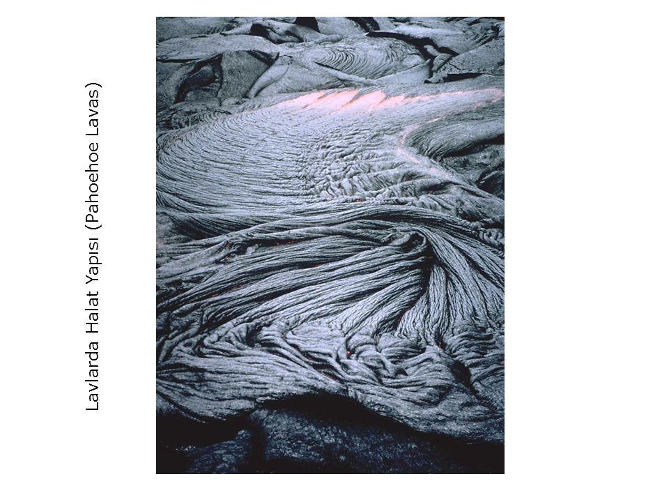 Lavlarda Halat Yapısı (Pahoehoe Lavas)