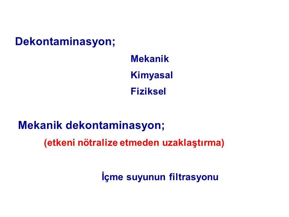 Mekanik dekontaminasyon;