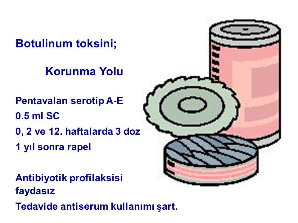 Botulinum toksini; Korunma Yolu Pentavalan serotip A-E 0.5 ml SC