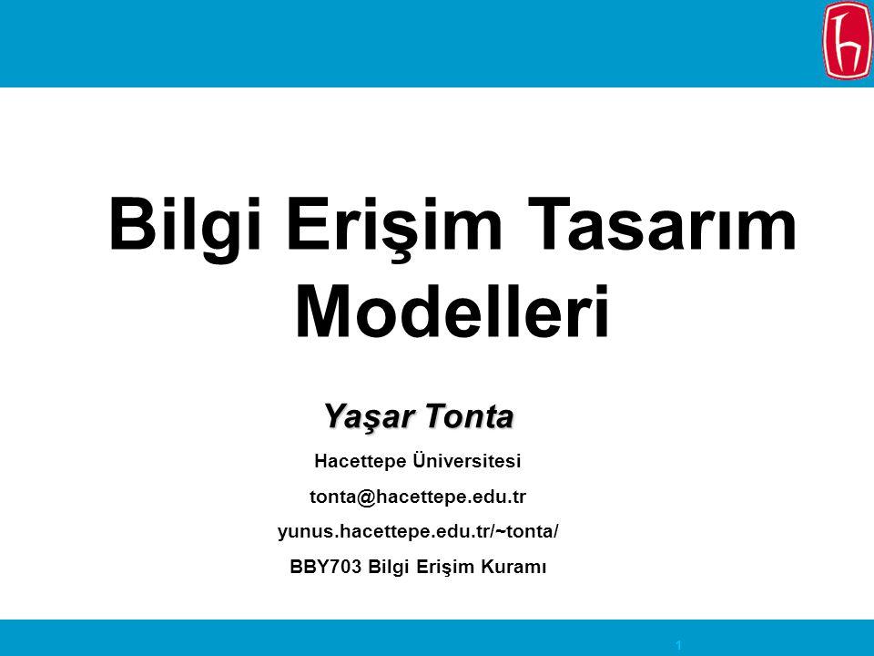 Bilgi Erişim Tasarım Modelleri