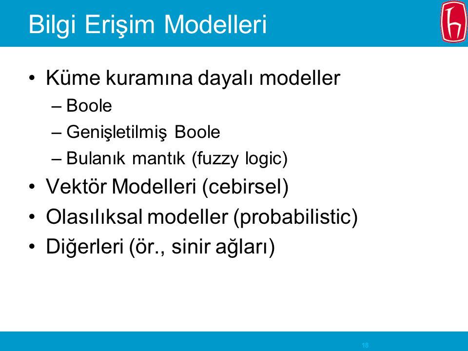 Bilgi Erişim Modelleri