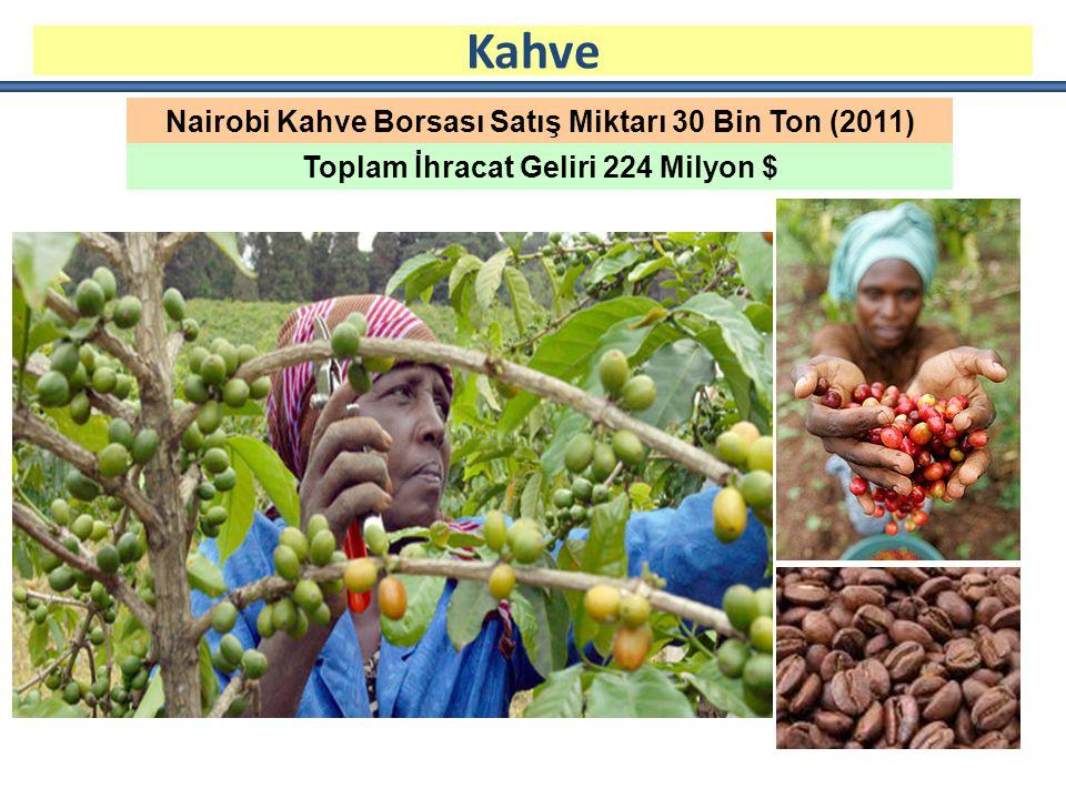 Kahve Nairobi Kahve Borsası Satış Miktarı 30 Bin Ton (2011)