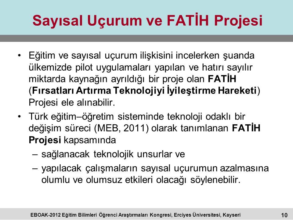 Sayısal Uçurum ve FATİH Projesi