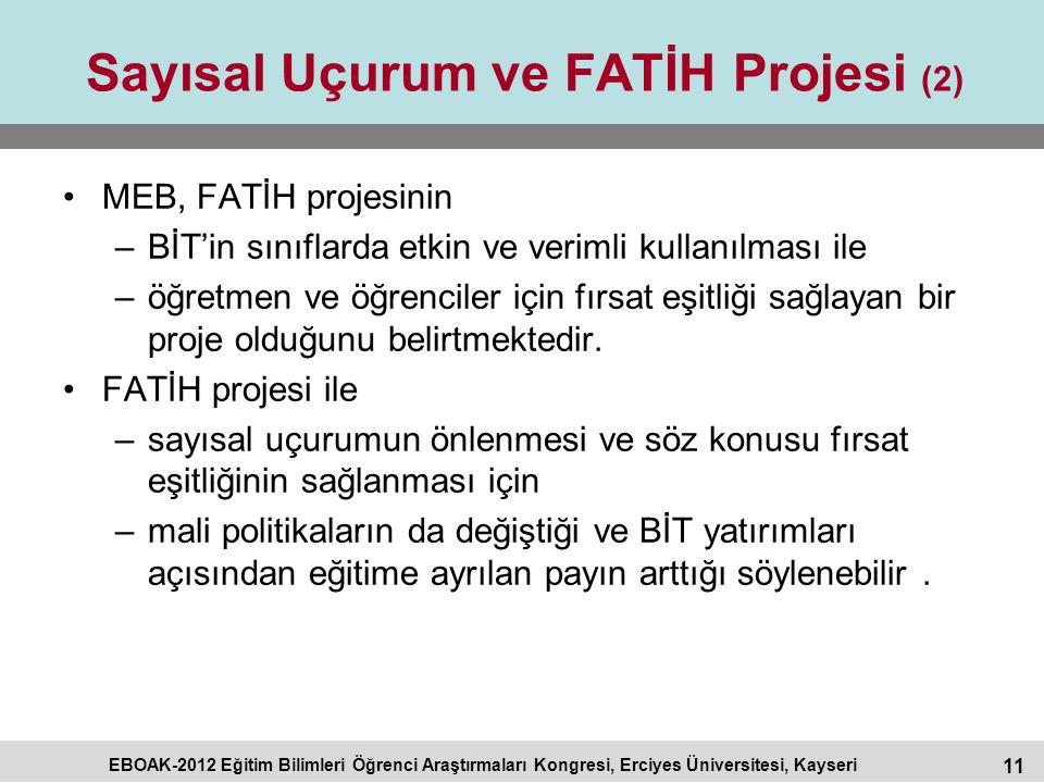 Sayısal Uçurum ve FATİH Projesi (2)