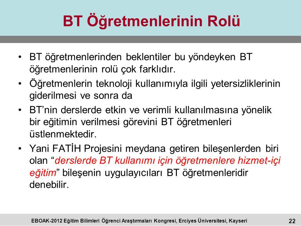 BT Öğretmenlerinin Rolü