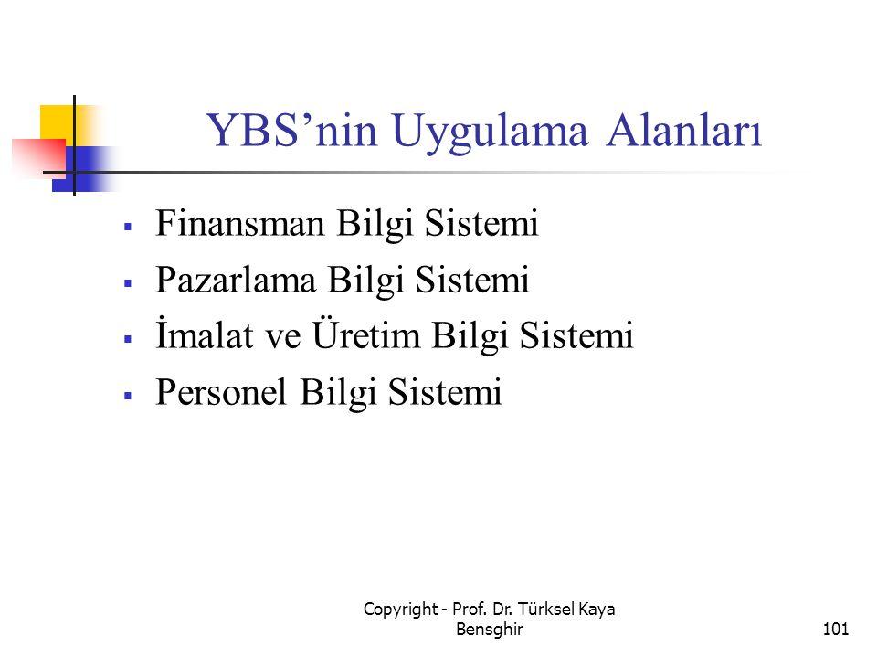 YBS'nin Uygulama Alanları