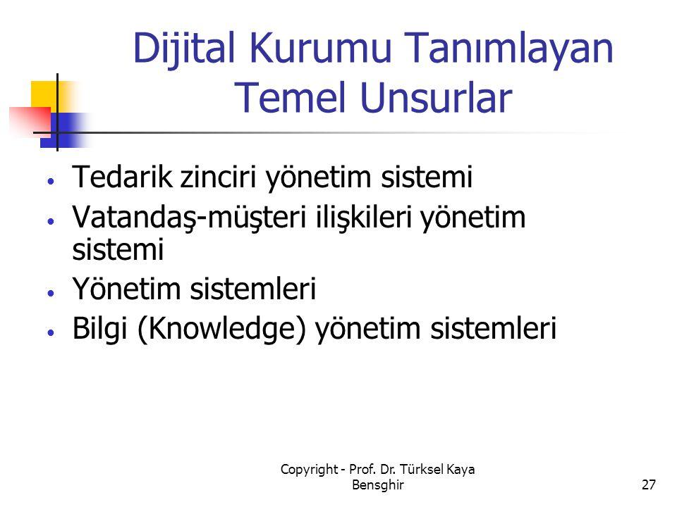 Dijital Kurumu Tanımlayan Temel Unsurlar