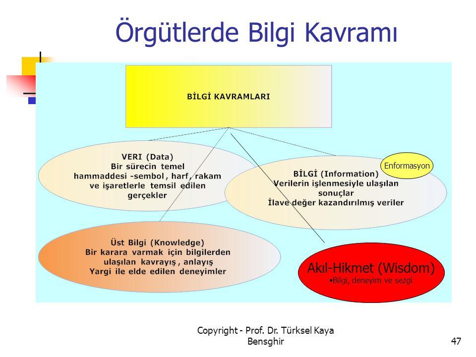 Örgütlerde Bilgi Kavramı