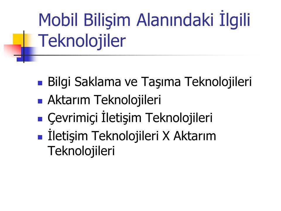 Mobil Bilişim Alanındaki İlgili Teknolojiler