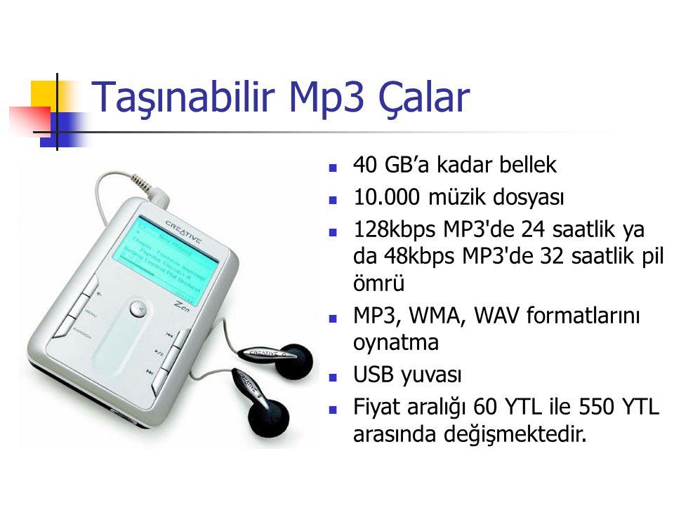 Taşınabilir Mp3 Çalar 40 GB'a kadar bellek 10.000 müzik dosyası