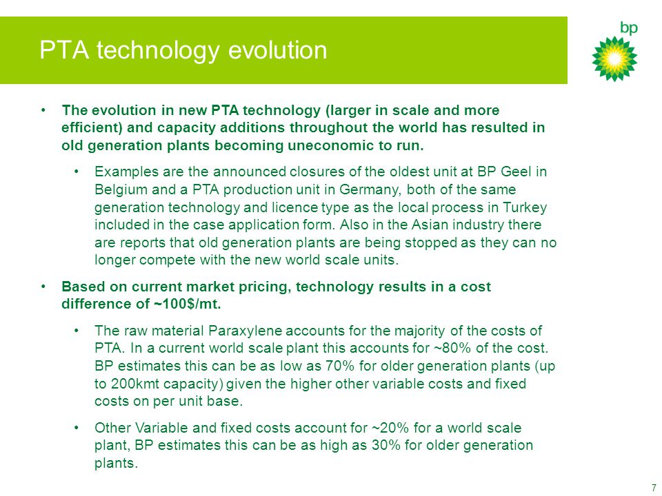 PTA technology evolution