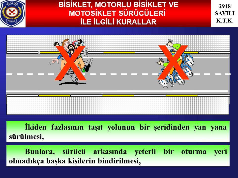 BİSİKLET, MOTORLU BİSİKLET VE MOTOSİKLET SÜRÜCÜLERİ
