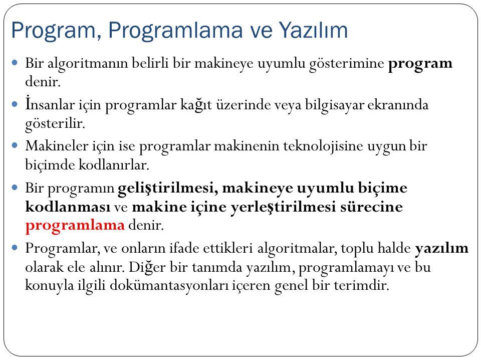 Program, Programlama ve Yazılım