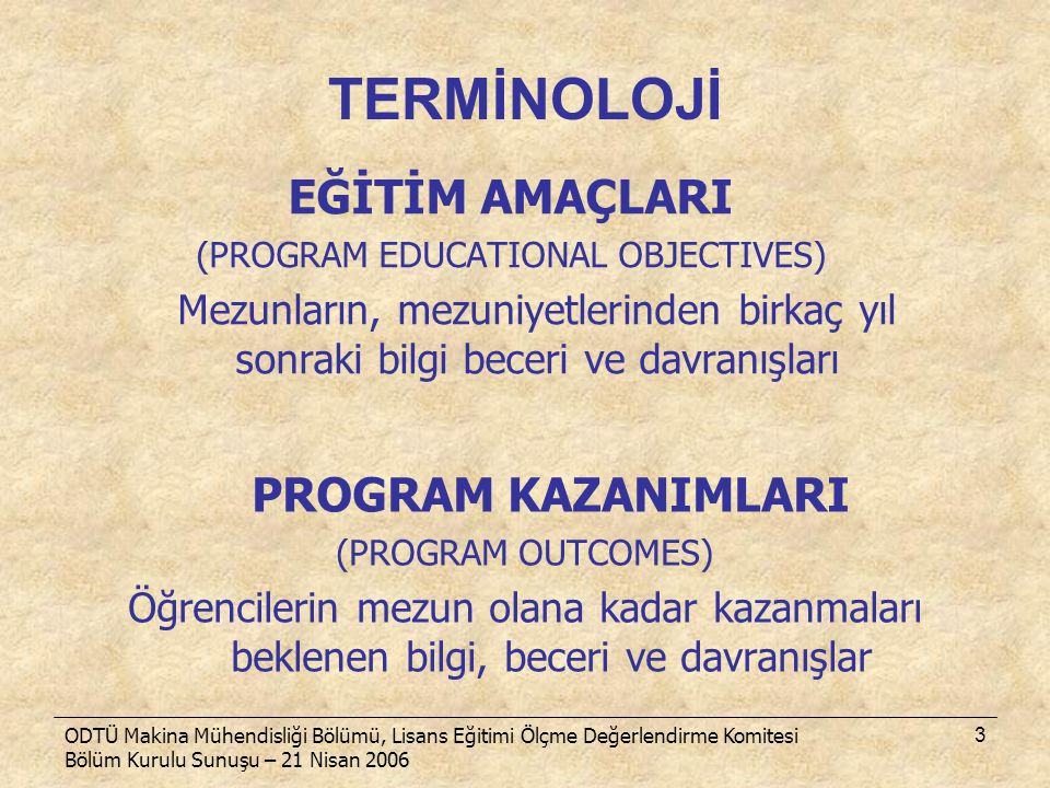(PROGRAM EDUCATIONAL OBJECTIVES)