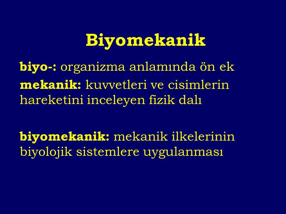 Biyomekanik biyo-: organizma anlamında ön ek
