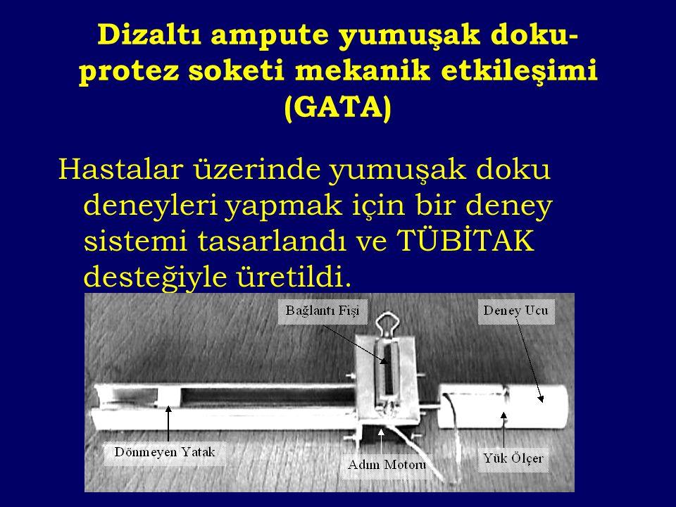 Dizaltı ampute yumuşak doku-protez soketi mekanik etkileşimi (GATA)