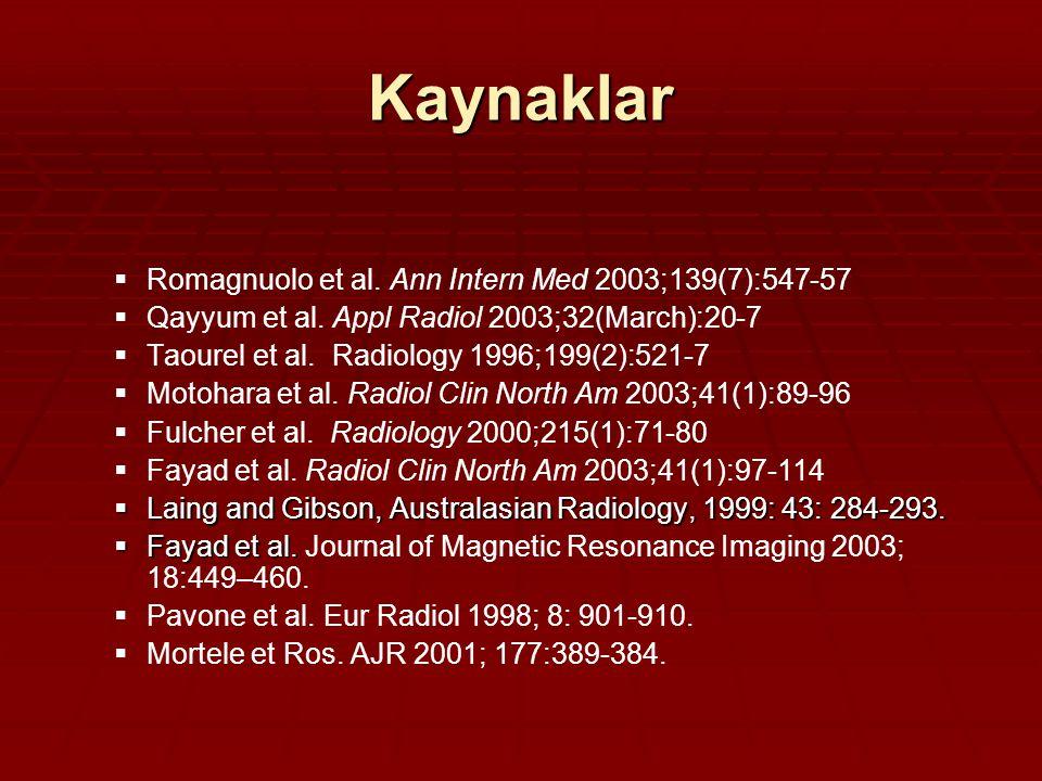 Kaynaklar Romagnuolo et al. Ann Intern Med 2003;139(7):547-57