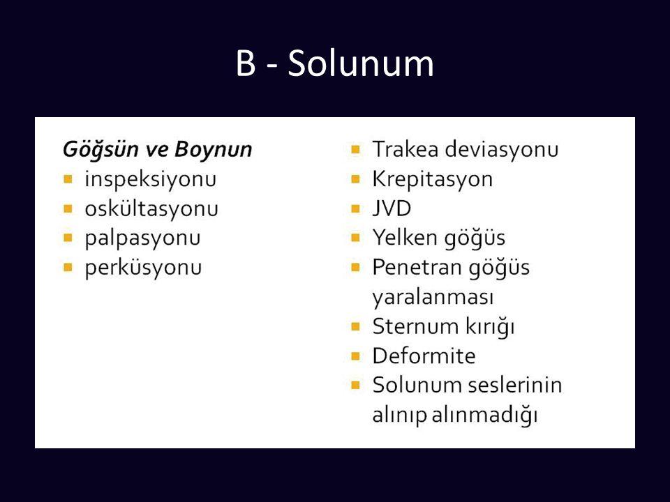 B - Solunum