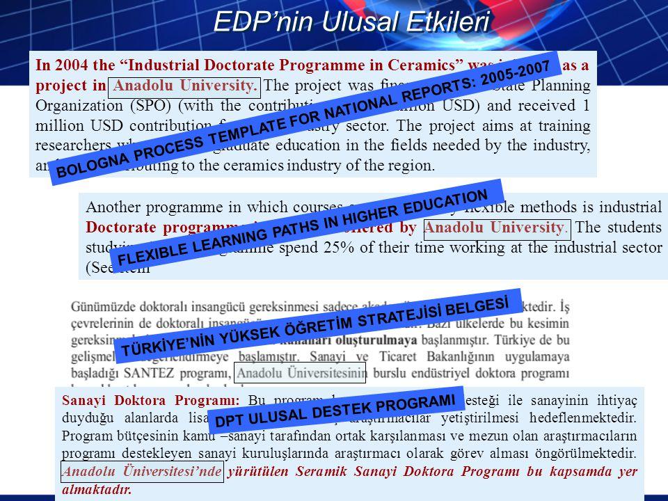 EDP'nin Ulusal Etkileri