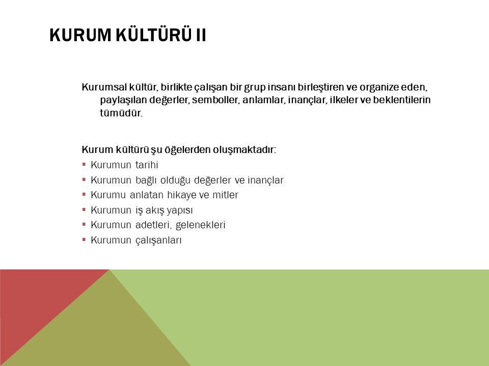 Kurum Kültürü II