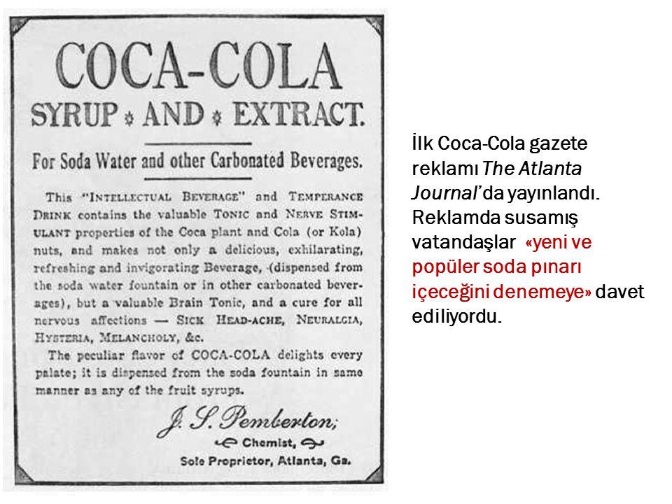 İlk Coca-Cola gazete reklamı The Atlanta Journal'da yayınlandı