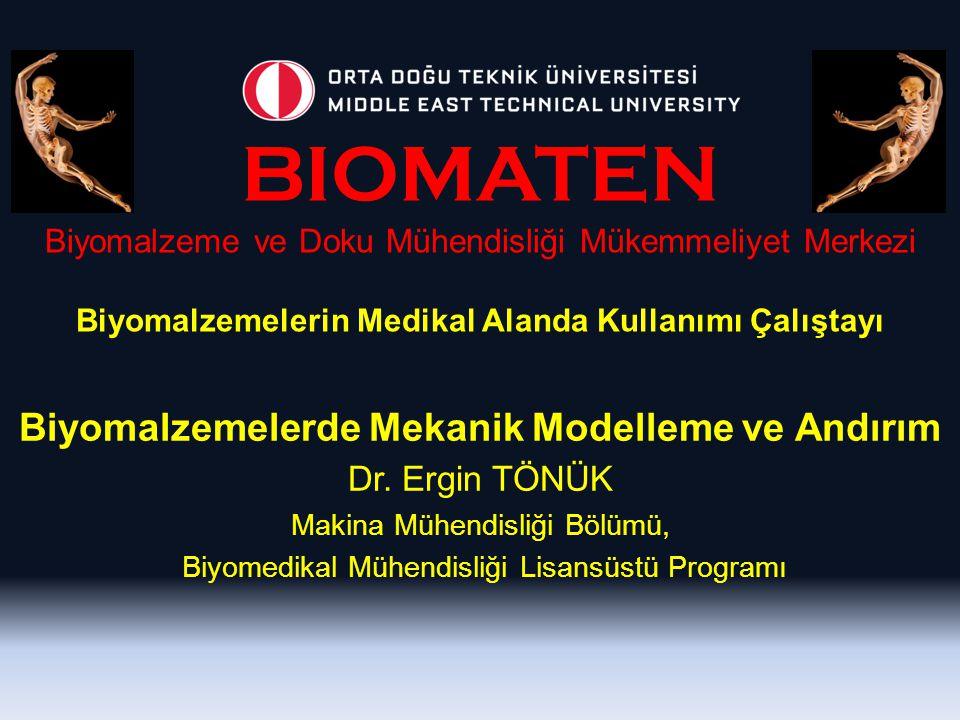 BIOMATEN Biyomalzeme ve Doku Mühendisliği Mükemmeliyet Merkezi Biyomalzemelerin Medikal Alanda Kullanımı Çalıştayı