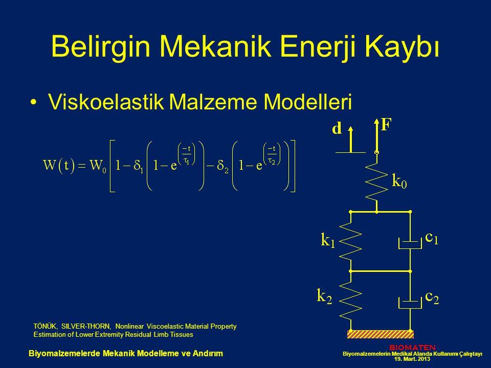 Belirgin Mekanik Enerji Kaybı