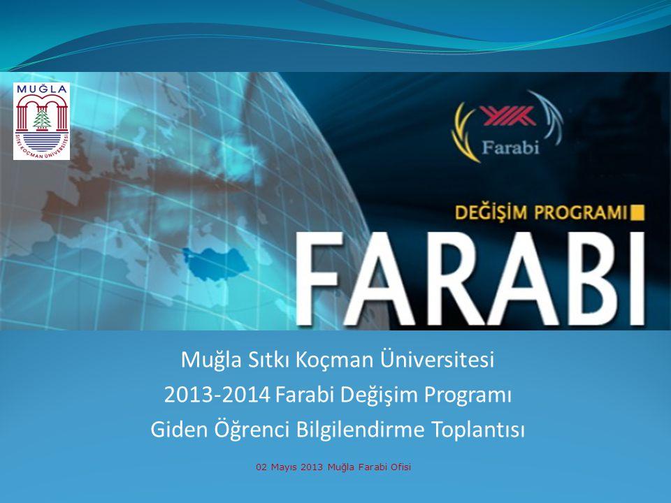 Muğla Sıtkı Koçman Üniversitesi 2013-2014 Farabi Değişim Programı