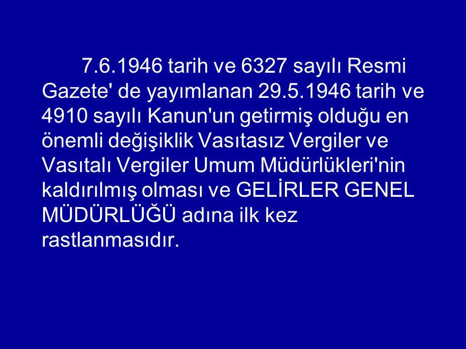 7. 6. 1946 tarih ve 6327 sayılı Resmi Gazete de yayımlanan 29. 5