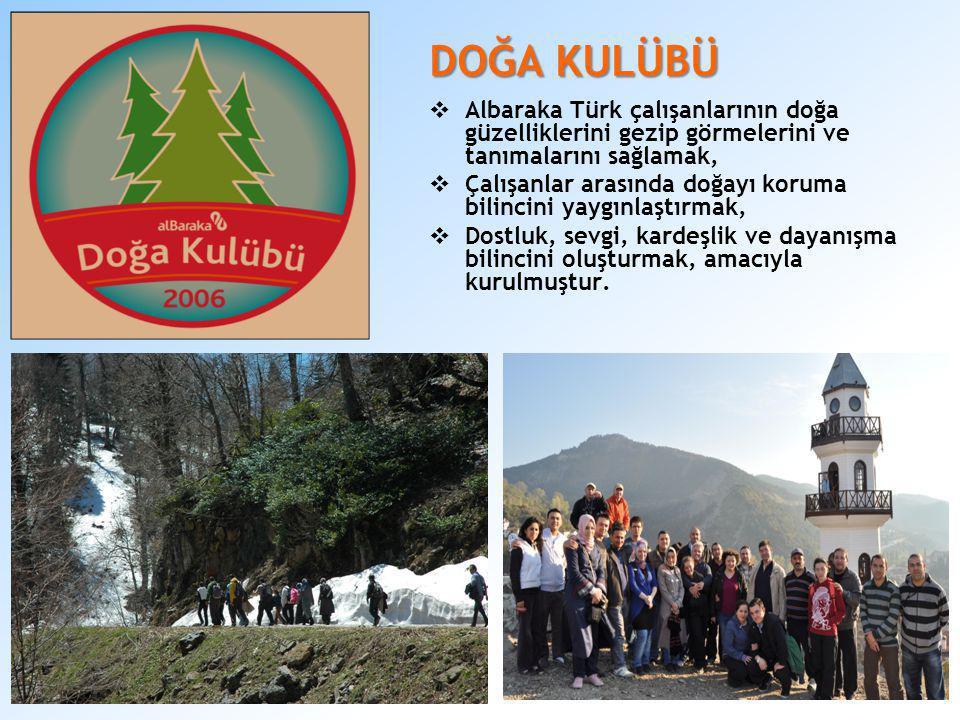 DOĞA KULÜBÜ Albaraka Türk çalışanlarının doğa güzelliklerini gezip görmelerini ve tanımalarını sağlamak,
