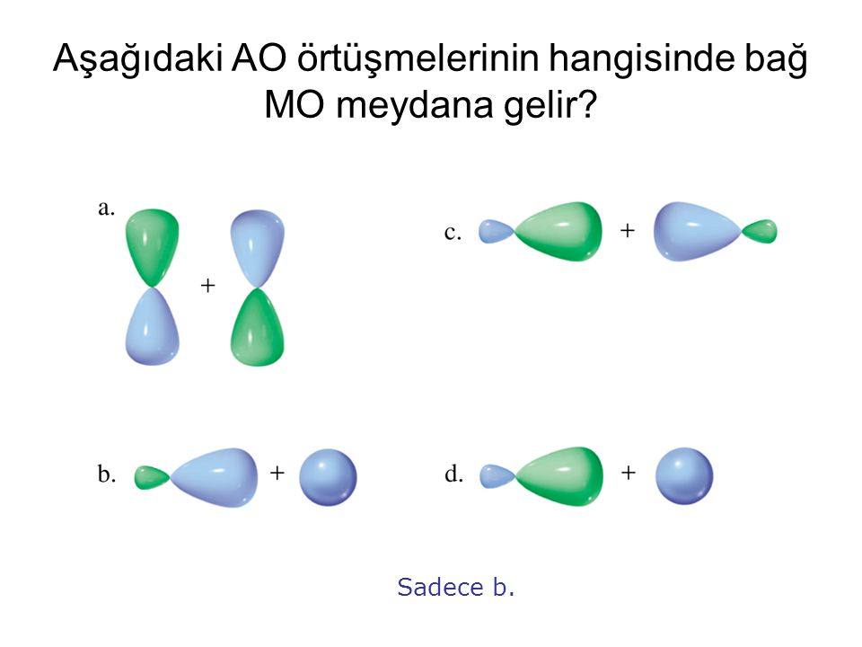 Aşağıdaki AO örtüşmelerinin hangisinde bağ MO meydana gelir