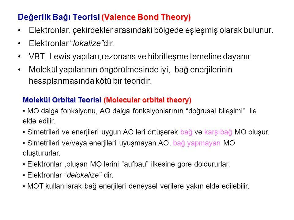 Değerlik Bağı Teorisi (Valence Bond Theory)