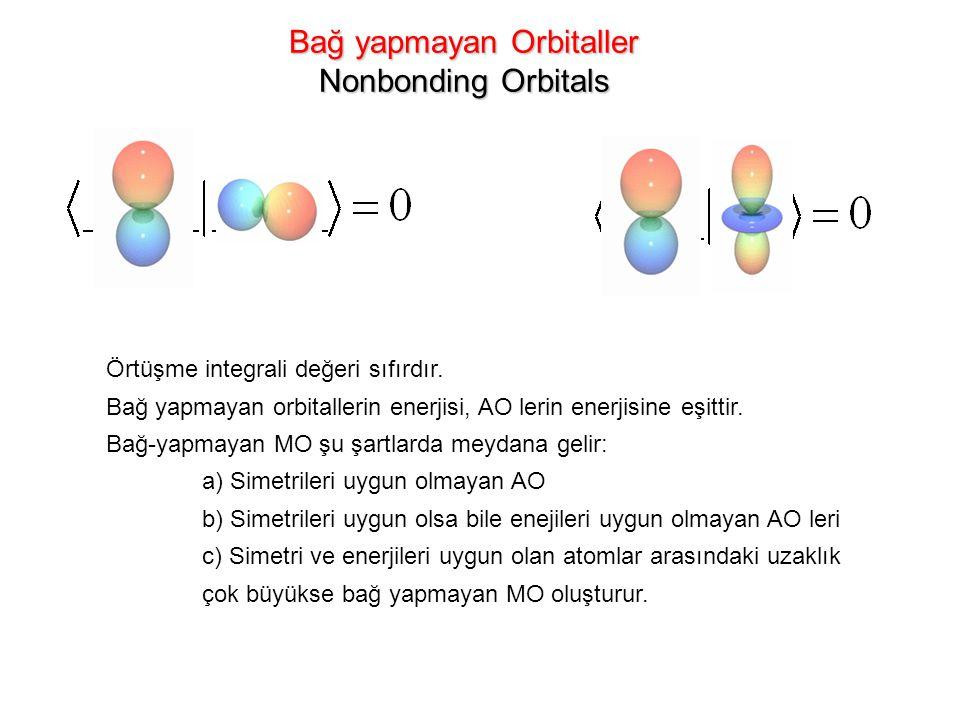 Bağ yapmayan Orbitaller Nonbonding Orbitals