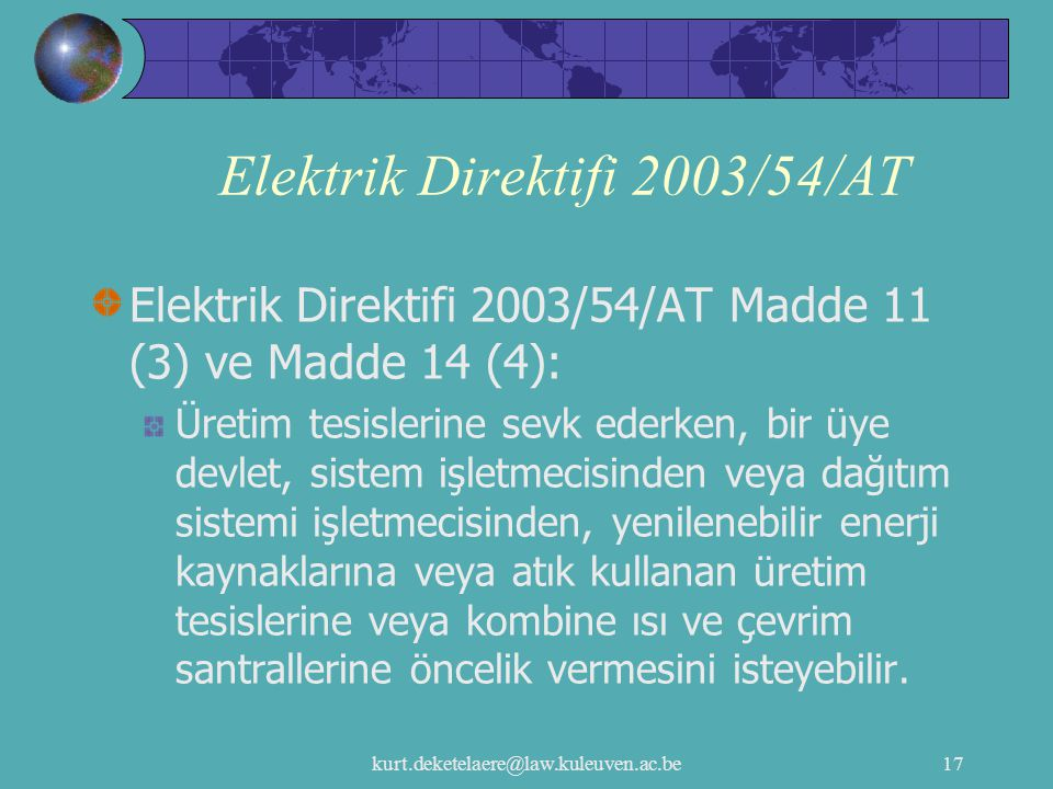 Elektrik Direktifi 2003/54/AT