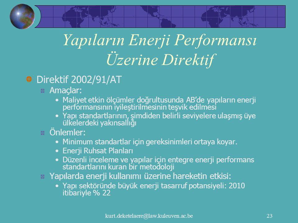 Yapıların Enerji Performansı Üzerine Direktif