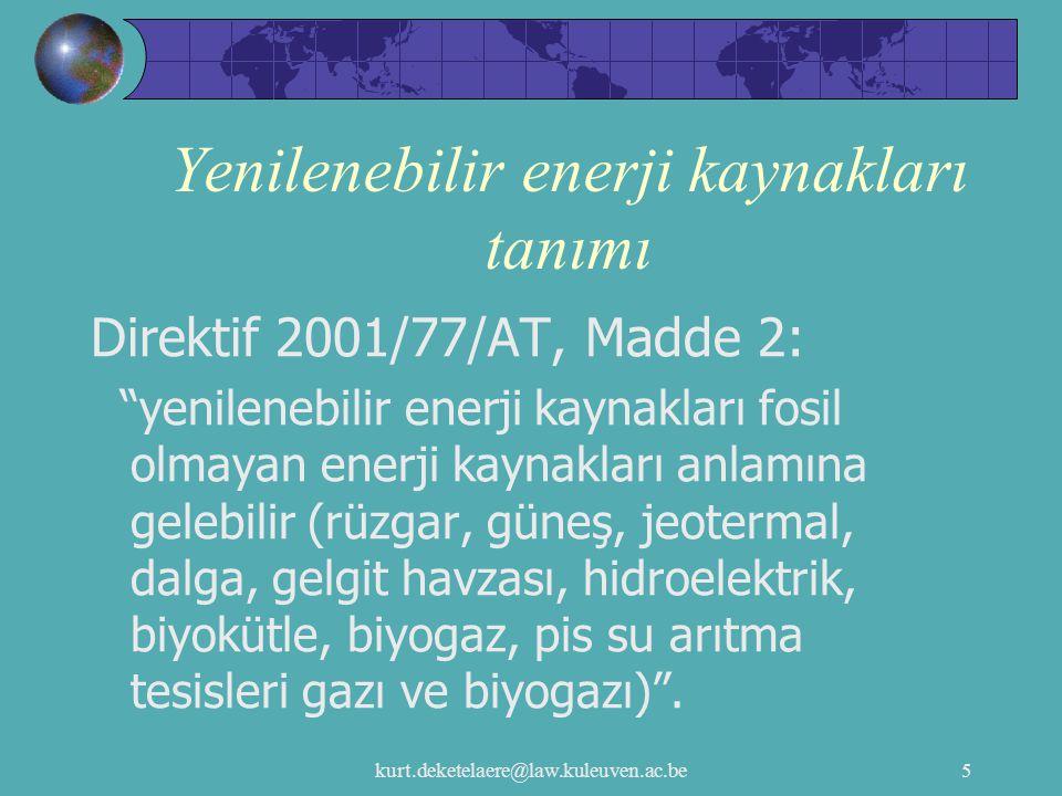 Yenilenebilir enerji kaynakları tanımı