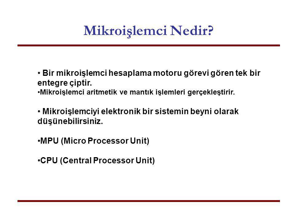 Mikroişlemci Nedir Bir mikroişlemci hesaplama motoru görevi gören tek bir entegre çiptir.