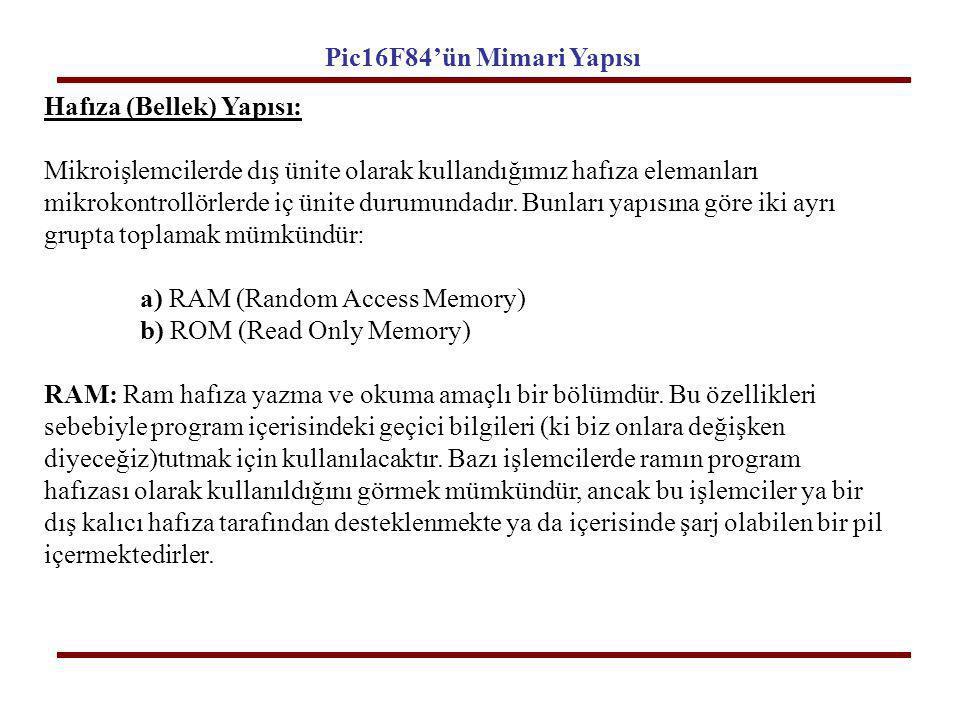 Hafıza (Bellek) Yapısı: