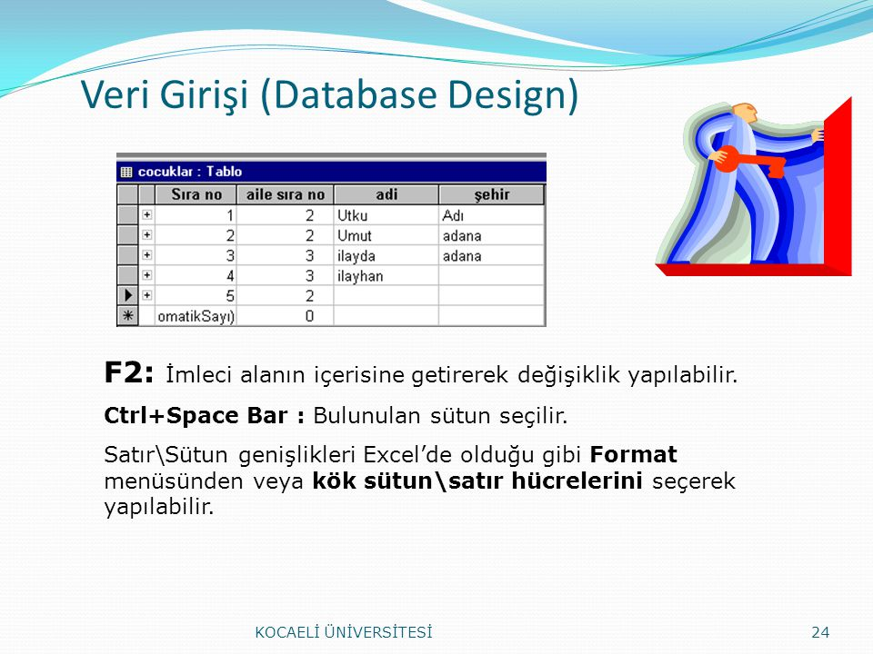Veri Girişi (Database Design)
