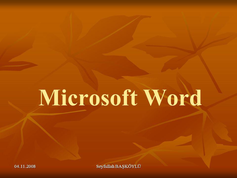 Microsoft Word 04.11.2008 Seyfullah BAŞKÖYLÜ