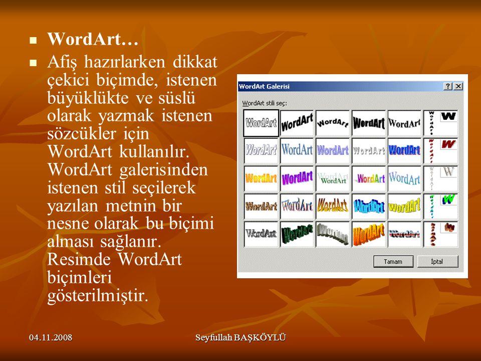 WordArt…