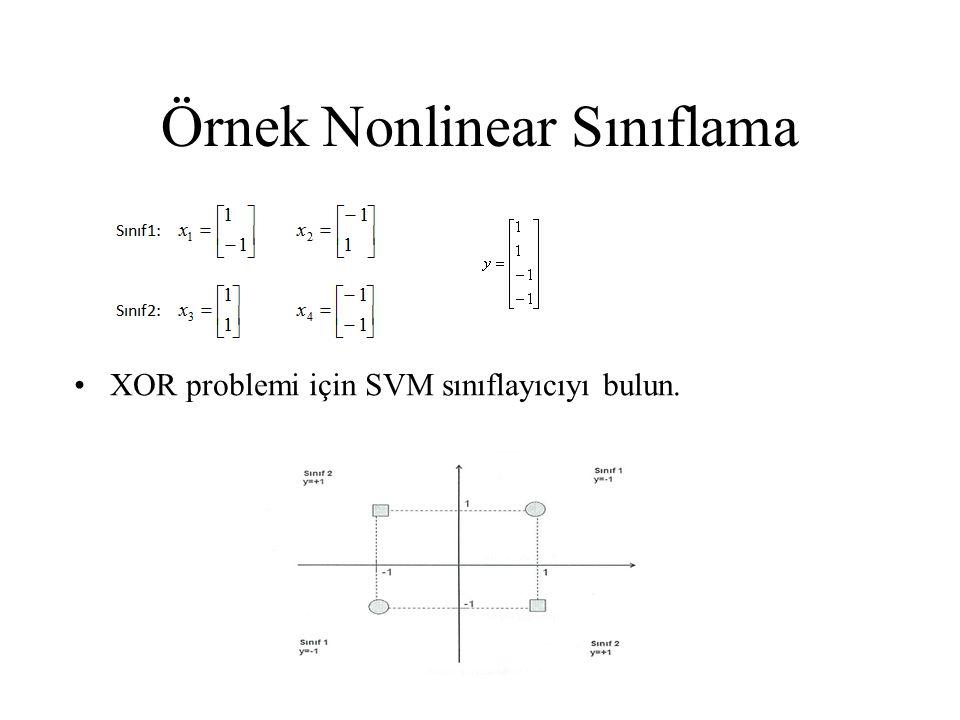 Örnek Nonlinear Sınıflama