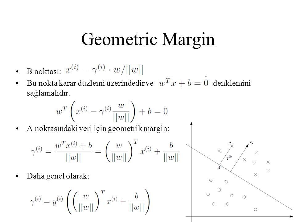 Geometric Margin B noktası: