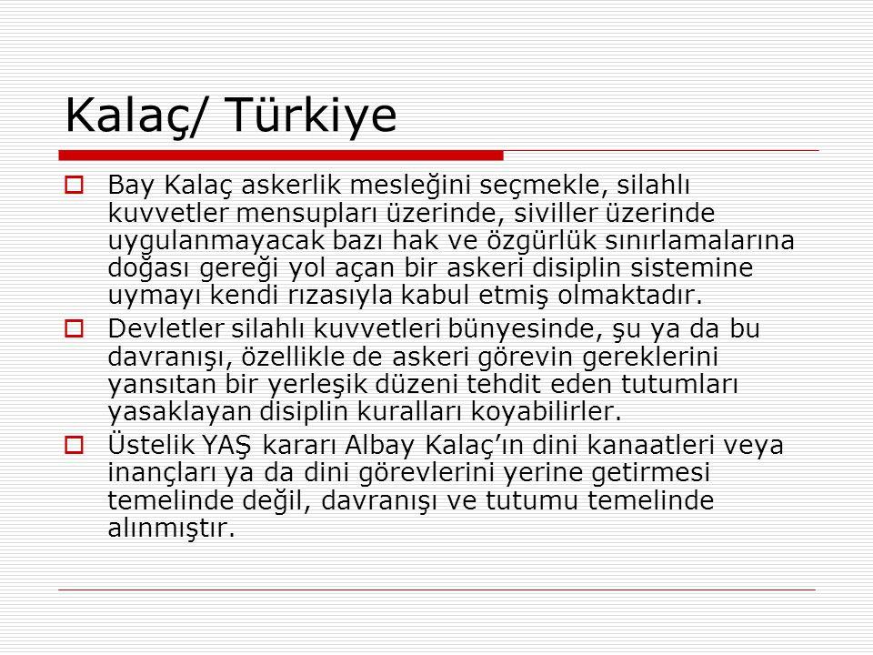 Kalaç/ Türkiye