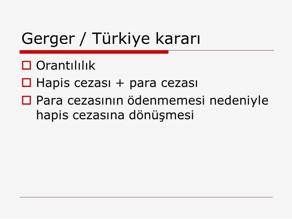 Gerger / Türkiye kararı