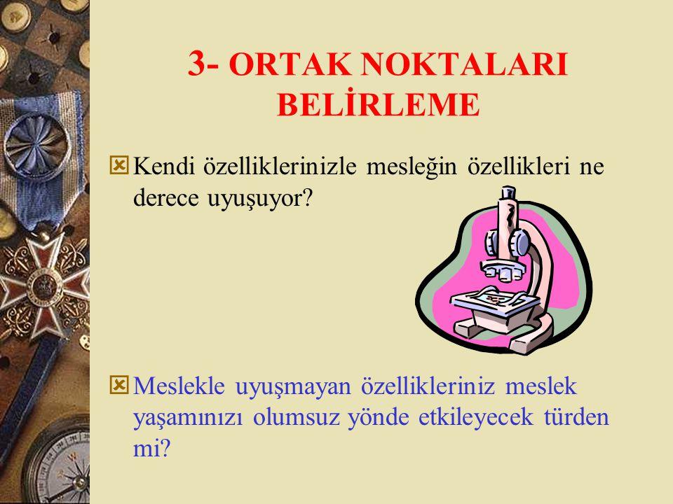 3- ORTAK NOKTALARI BELİRLEME